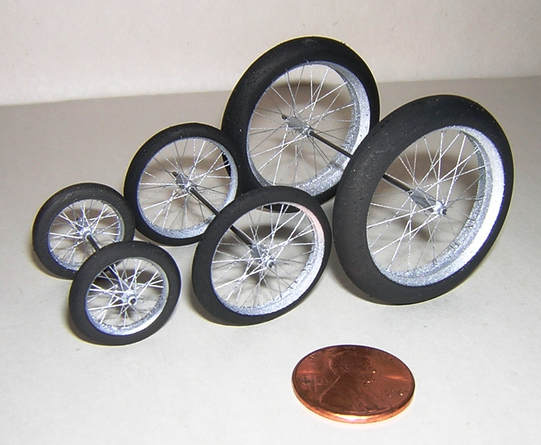 Balsa Tire Spoked Wheels