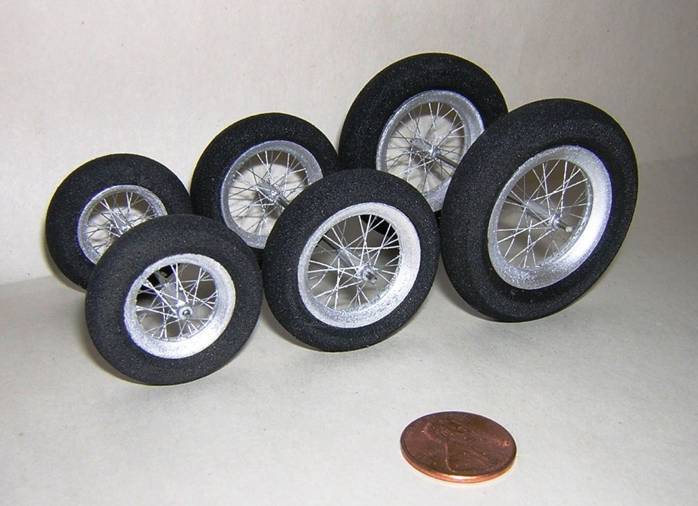 Foam Tire Spoked Wheels
